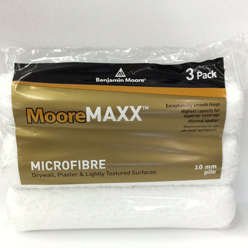 MooreMAXX Microfibre 10mm Rollers 3 Pack
