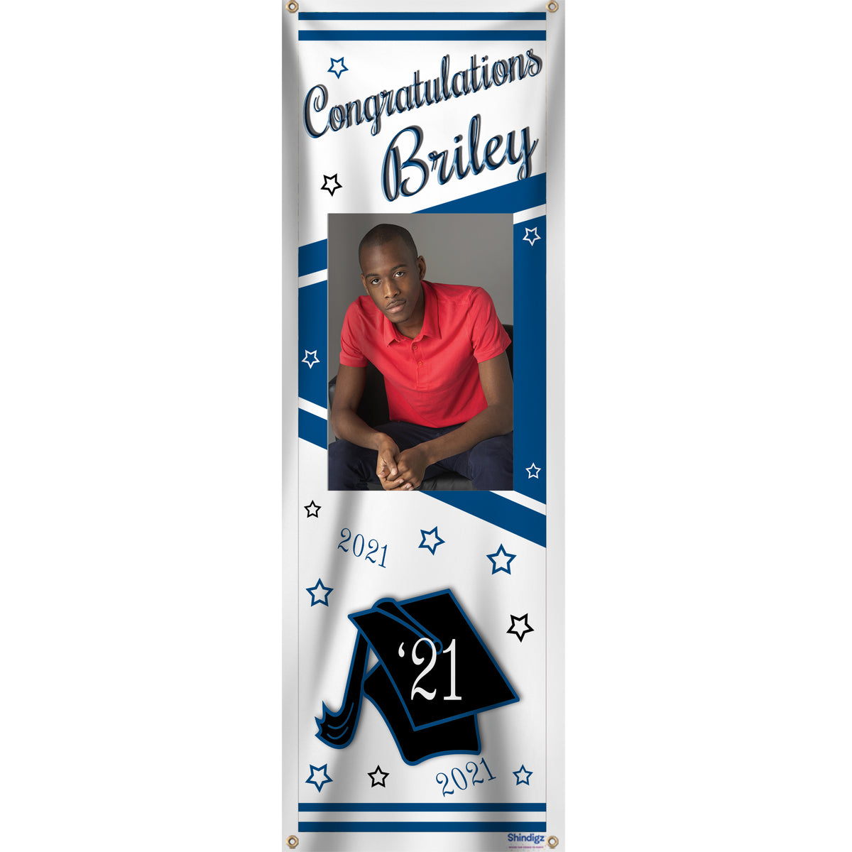 Grad Vertical Personalized Photo Banner