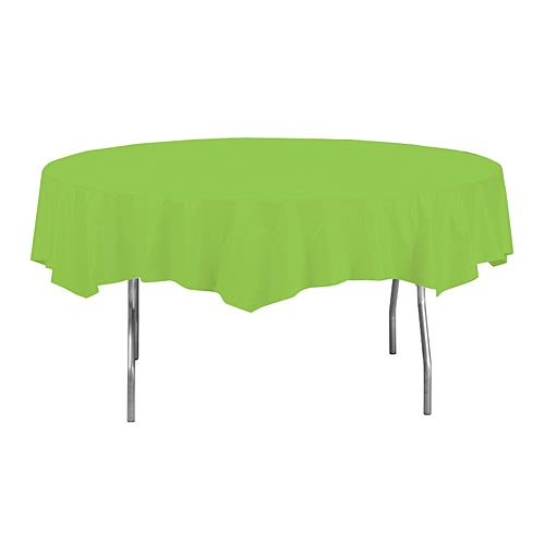 "Fresh Lime 82"" Round Paper Table Cover"