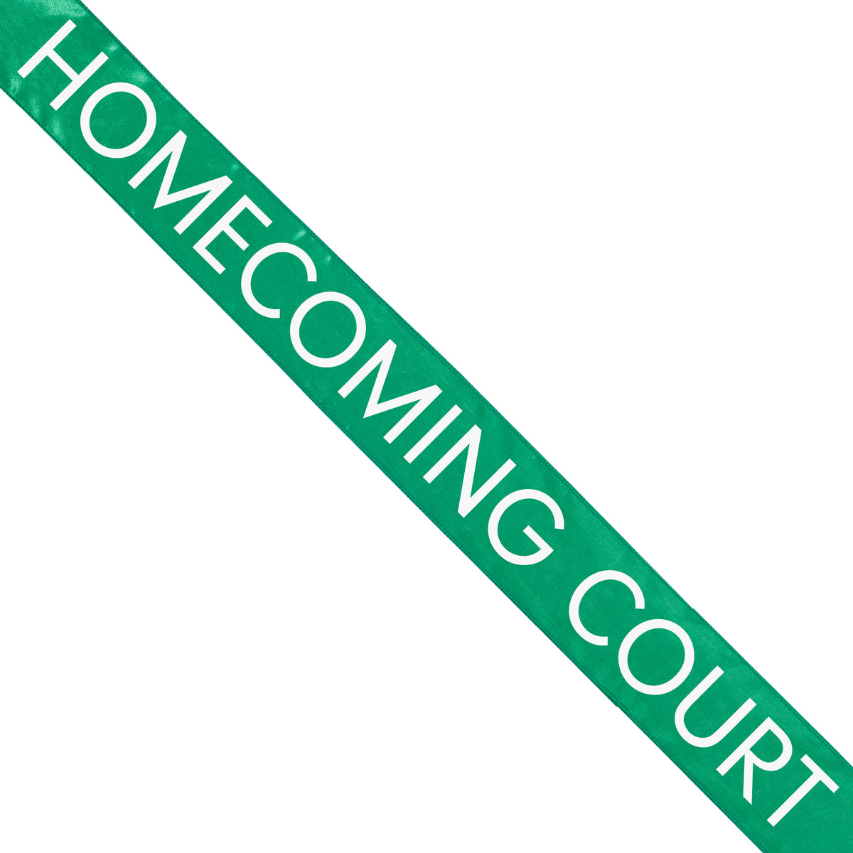 Green Satin Homecoming Court Sash