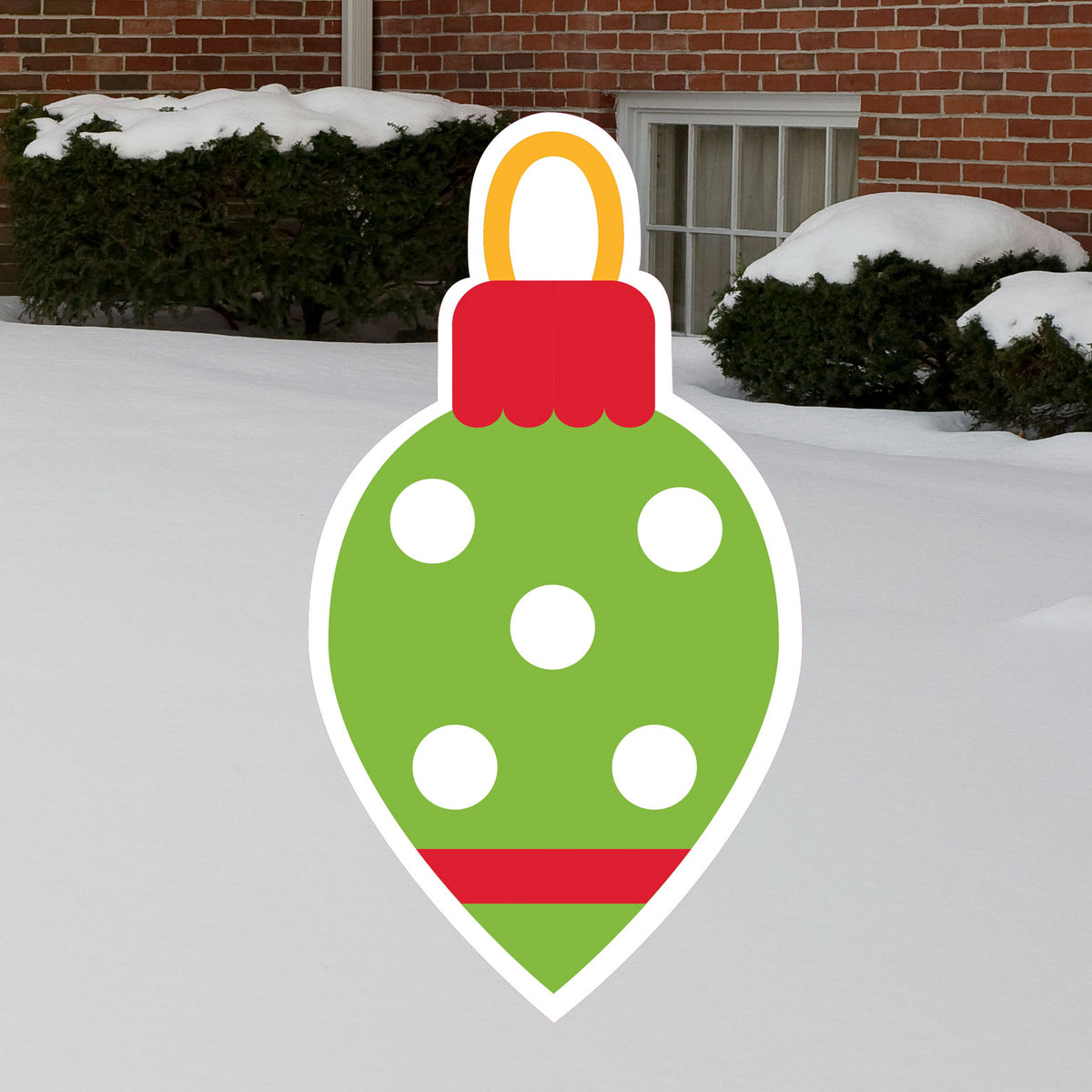 2 ft. Teardrop Ornament Yard Sign