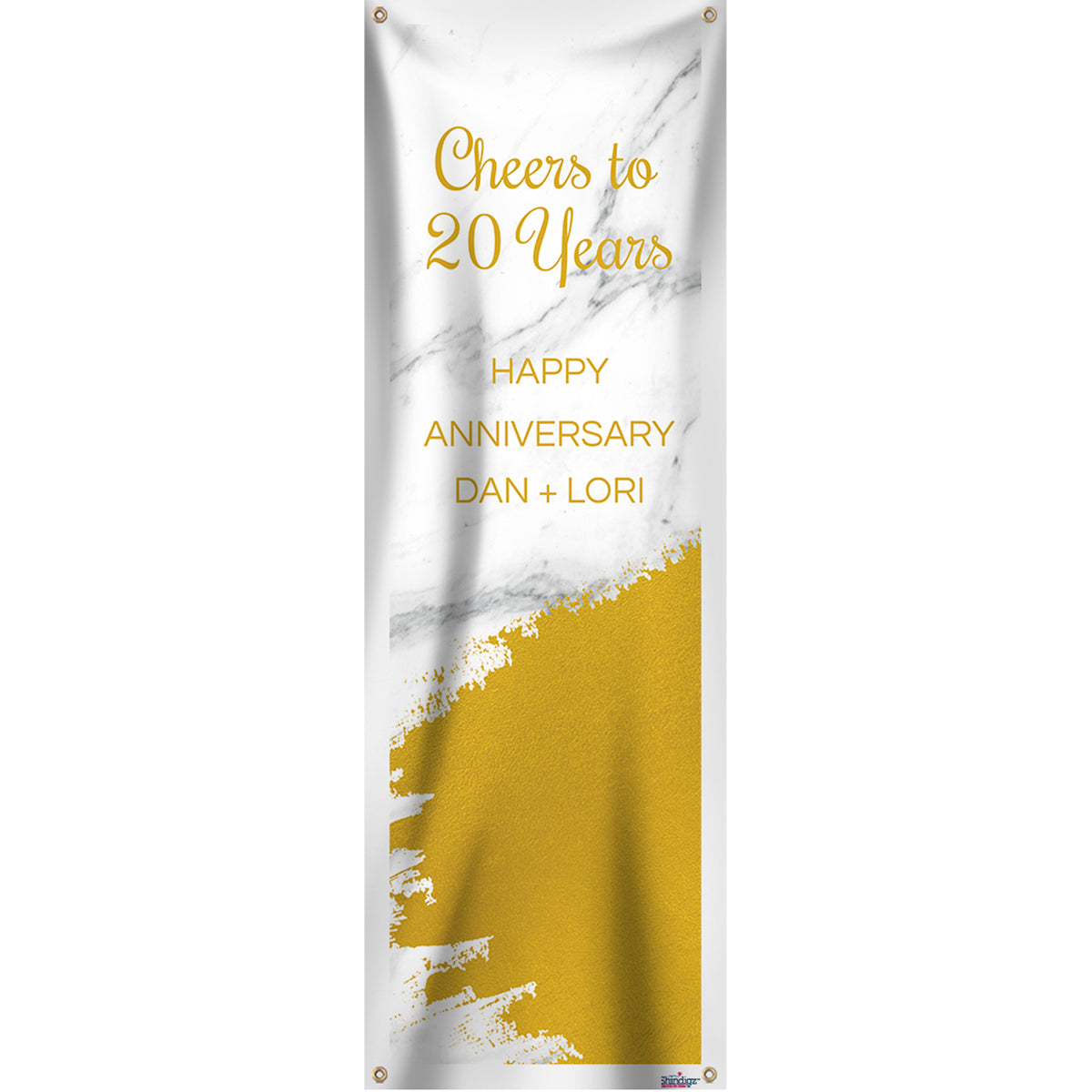 Gold Marble Personalized Vertical Banner