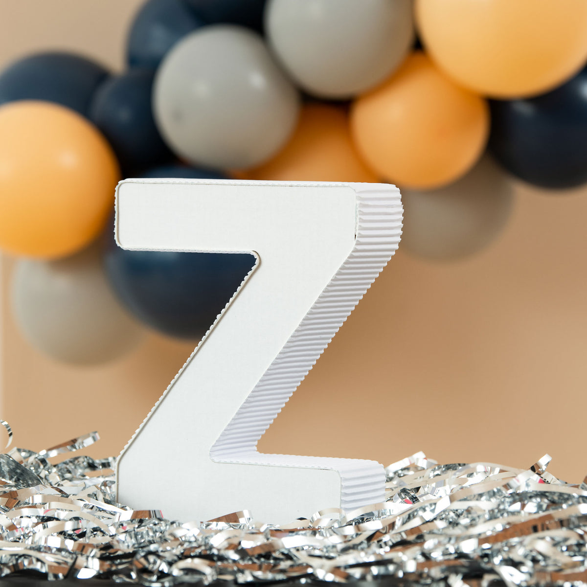 12 in. 3D Tabletop Letter Z Prop