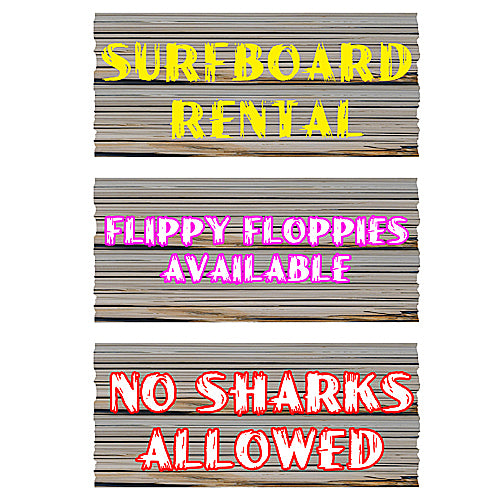 10 in. Surf Shack Signs
