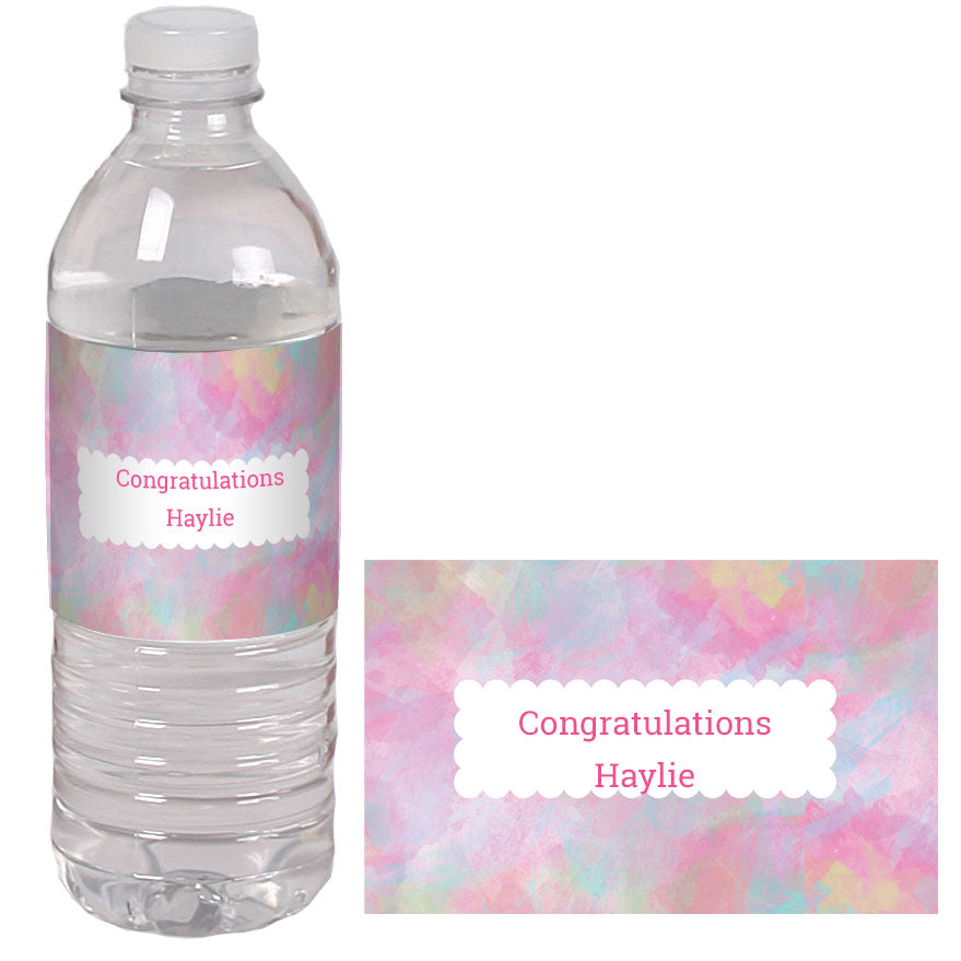 Watercolor Custom Water Bottle Labels
