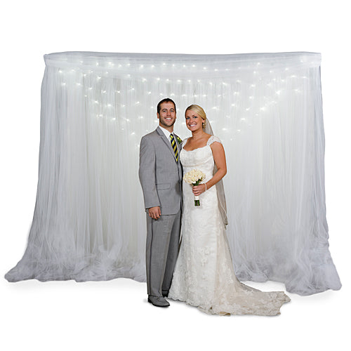 Lighted Tulle Fabric Background