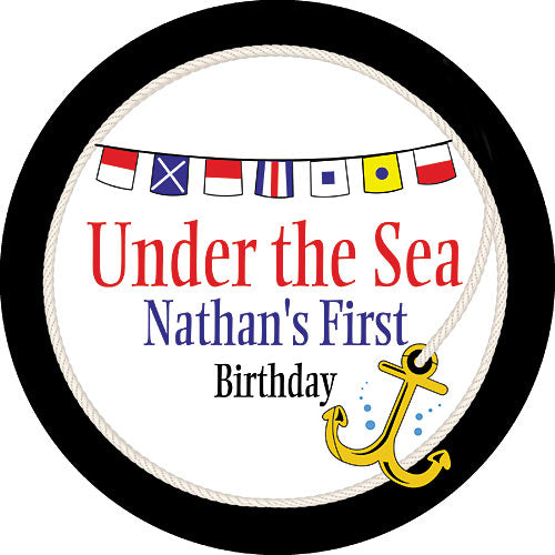 Nautical Flags Personalized Stickers