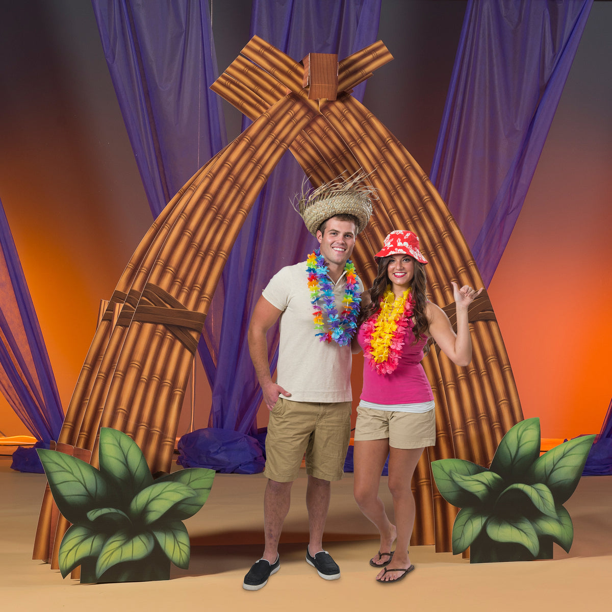 6 ft. 8 in. Vintage Luau Arch