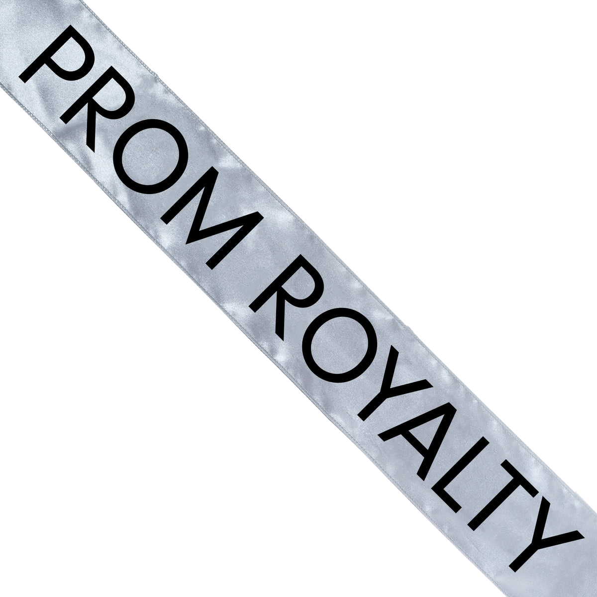 Silver Satin Prom Royalty Sash