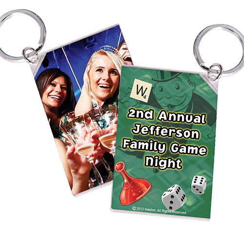 Hasbro Game Night Personalized Key Chains