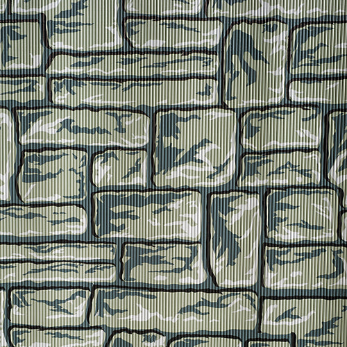 Flagstone Patterned Corrugated Paper