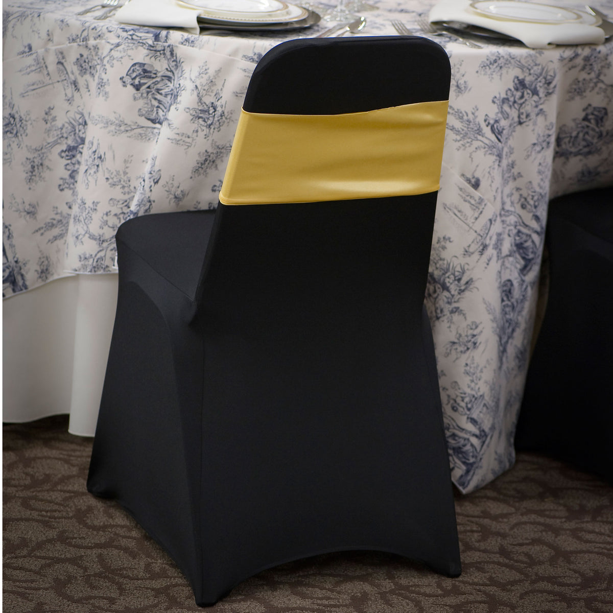 Black Fabric Chair Band