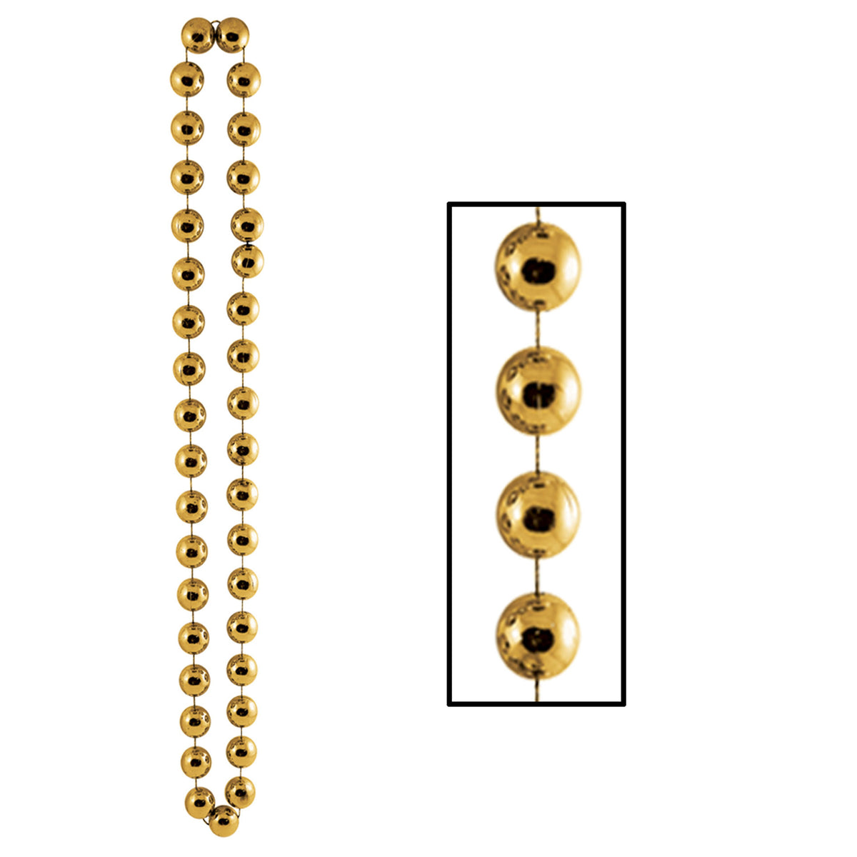 Gold Jumbo Party Beads