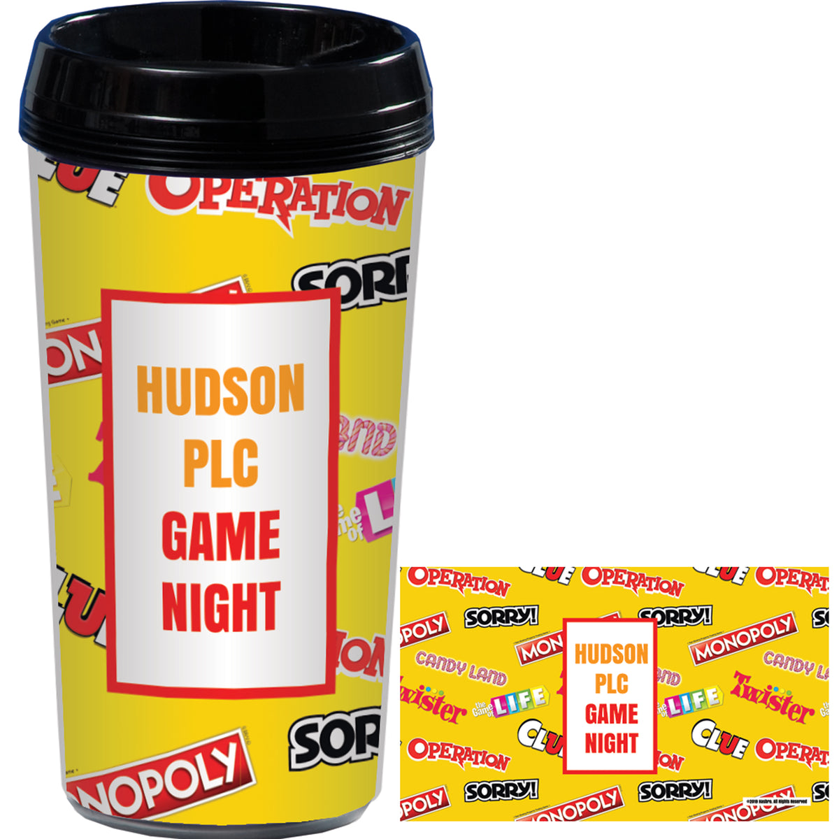 Hasbro Game Night Collection Personalized Travel Mug
