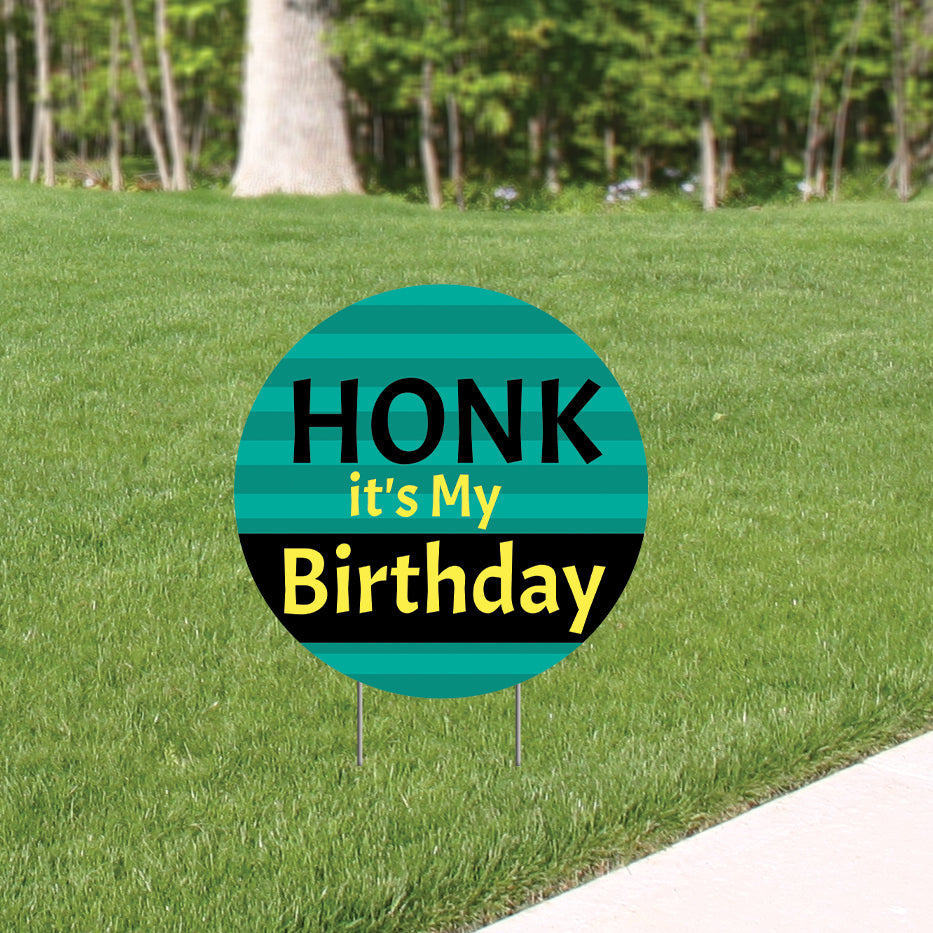 Honk it's My Birthday Yard Sign Expression Icon