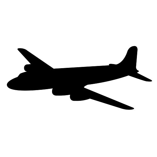 3 ft. 6 in. Airplane Silhouette Cutout