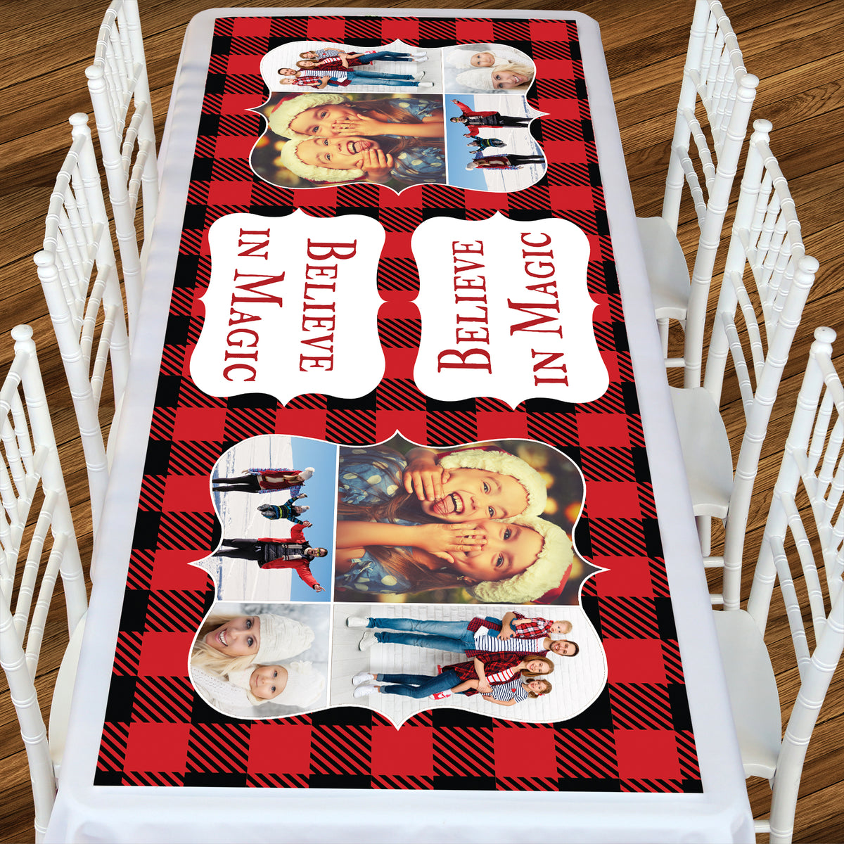 Cozy Plaid Rectangle Table Top-It