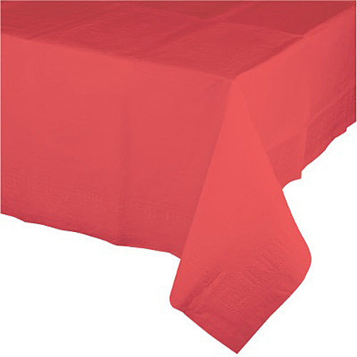 Coral Paper Table Cover