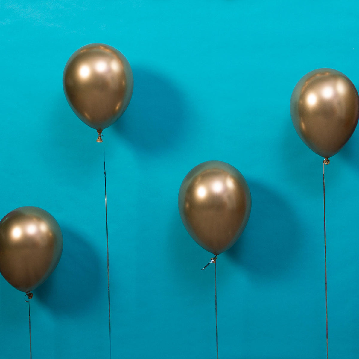 Silver Chrome Latex Balloons