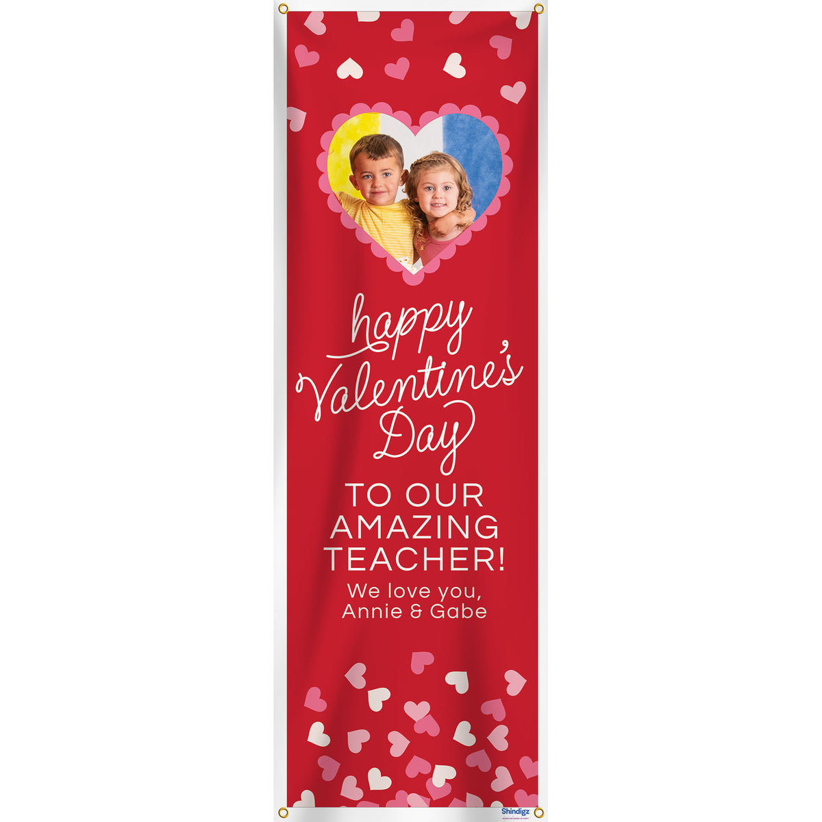Be Mine Personalized Vertical Banner