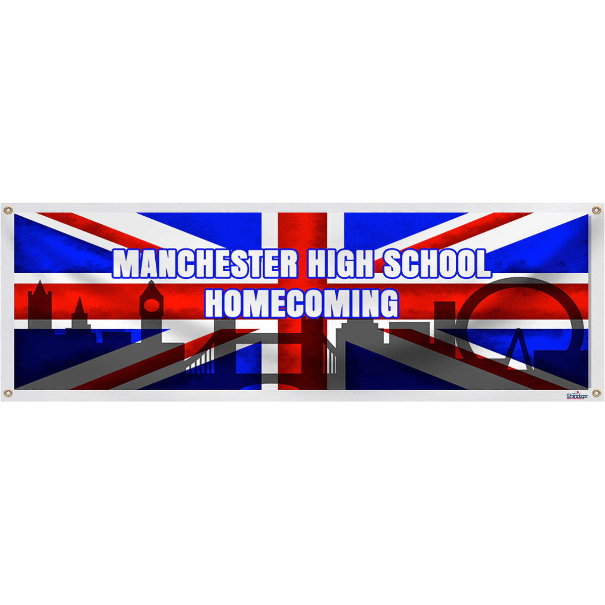 British Flag Personalized Banner