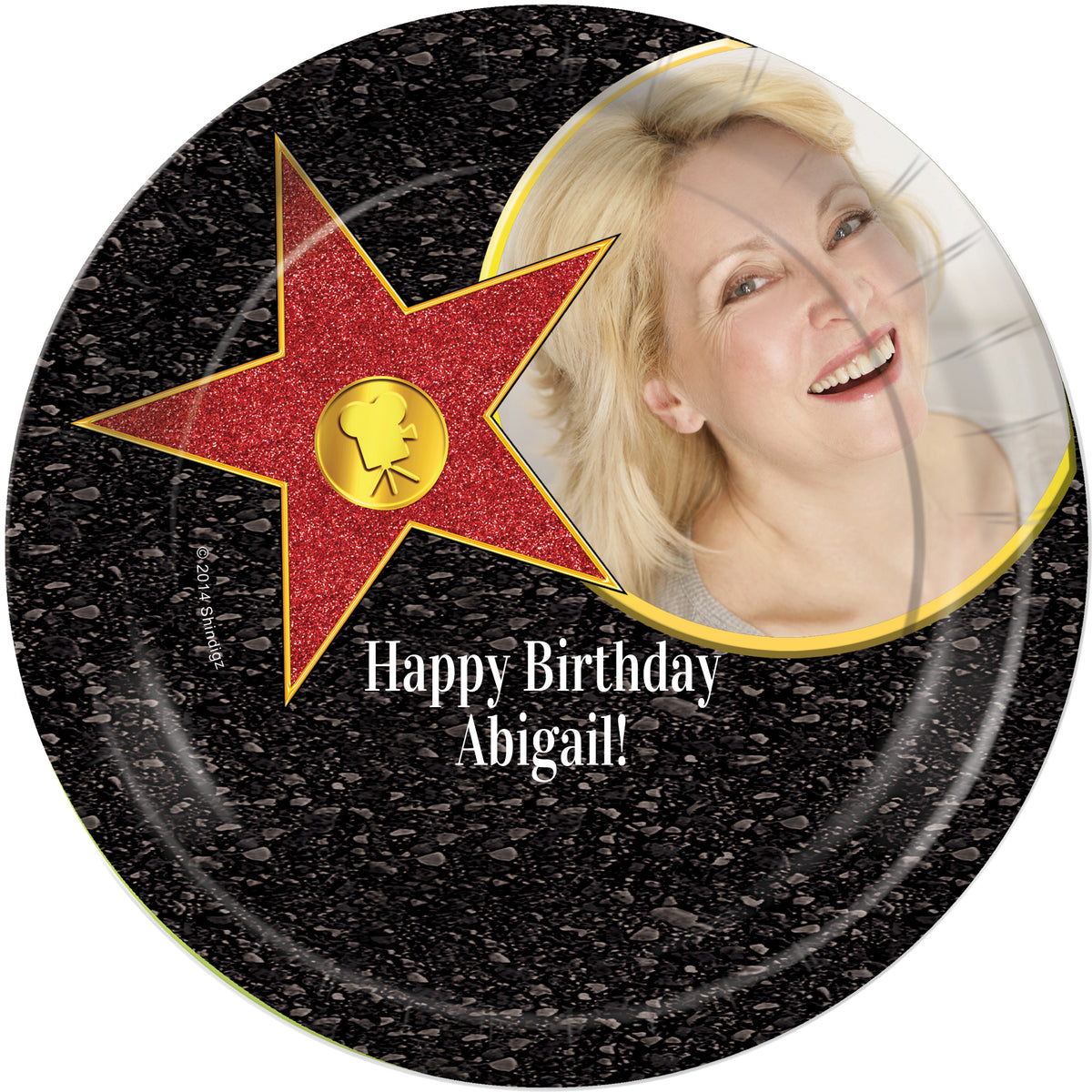 Hollywood Walk of Fame Personalized Dinner Plates