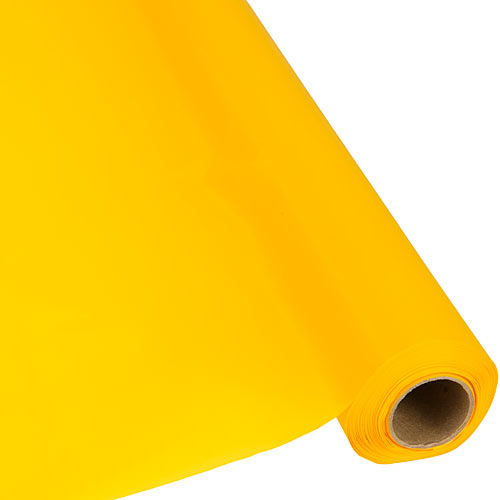 Yellow Plastic Table Roll
