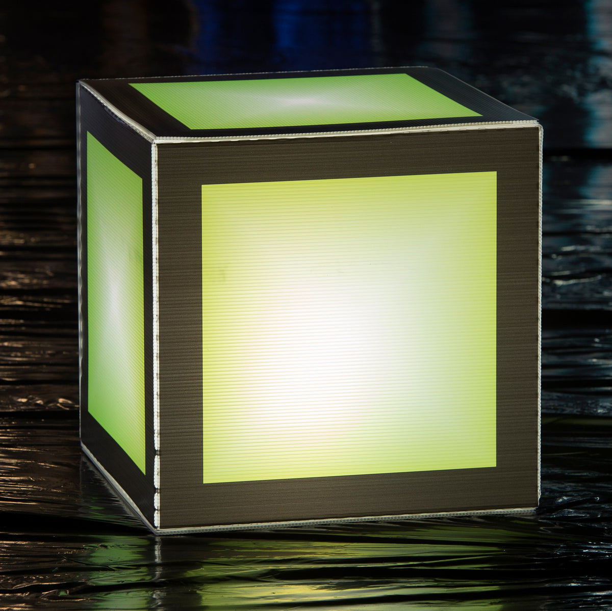 1 ft. 8 in. Let's Glow Crazy Green Lighted Cube