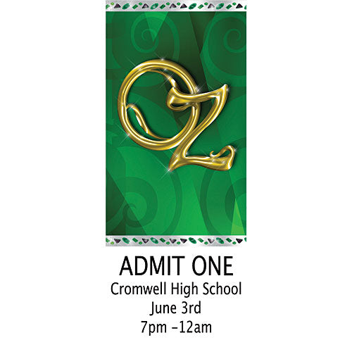Emerald City Personalized Tickets