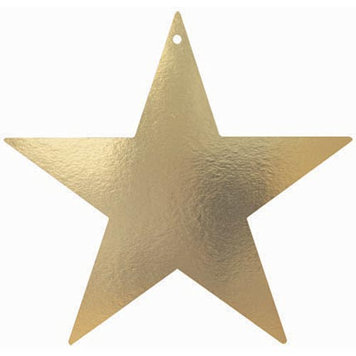 15 Inch Gold Foil Stars