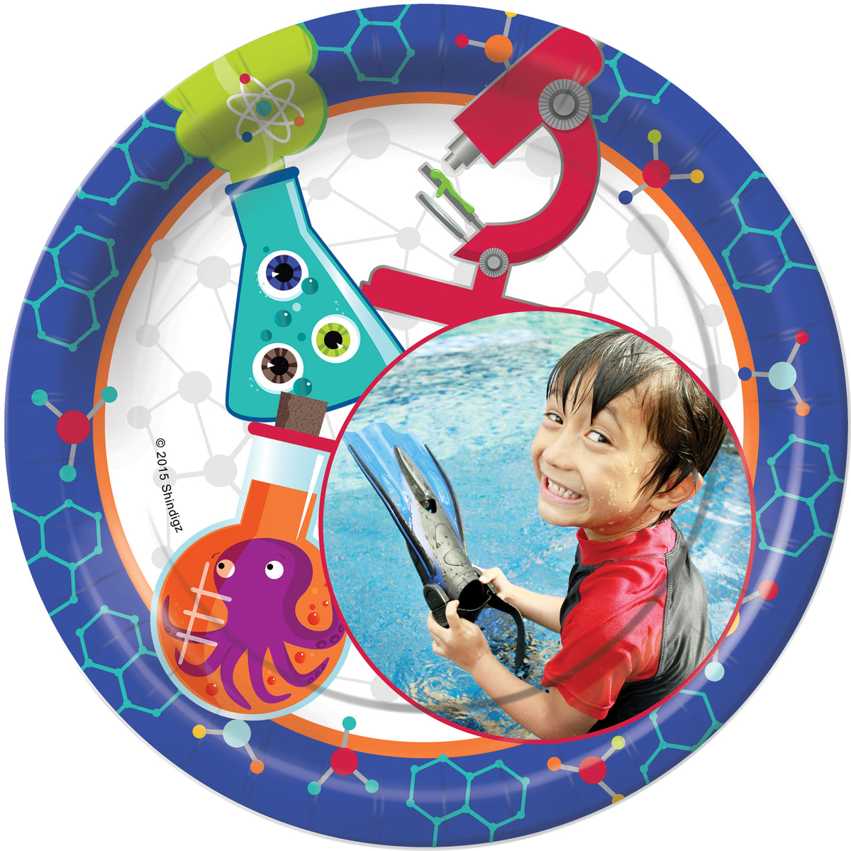 Mad Scientist Personalized Dinner Plates