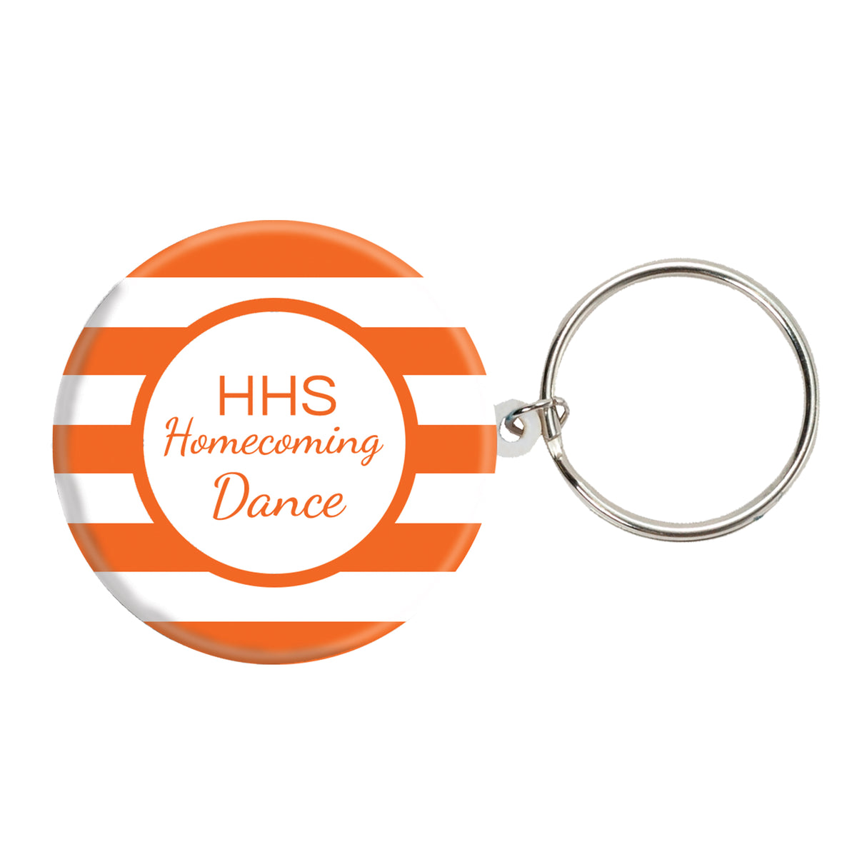 Classic Stripe Personalized Key Chains
