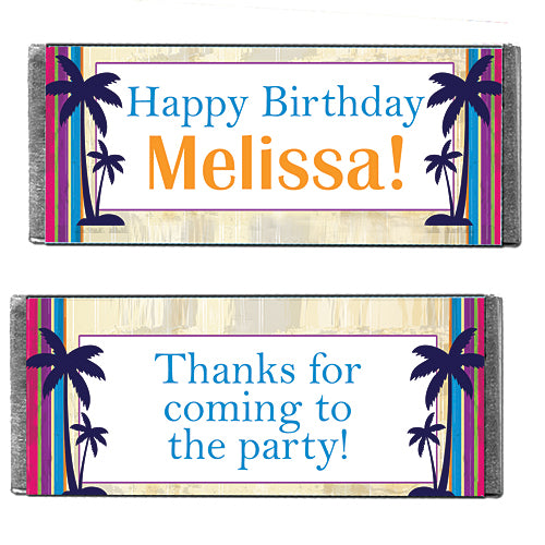 Hershey's Chocolate Tropical Silhouettes Personalized Candy Bars
