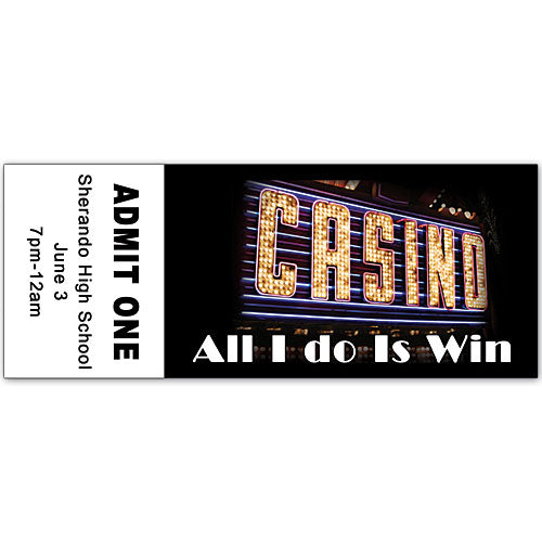Casino Sign Personalized Ticket