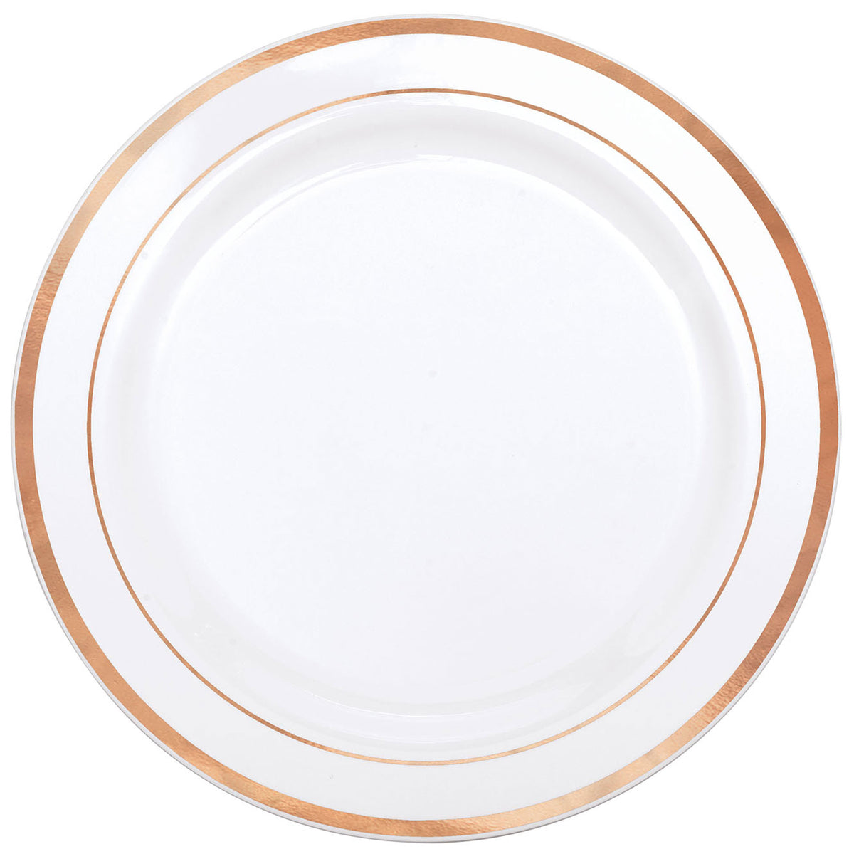 Rose Gold Trim Premium Dinner Plates