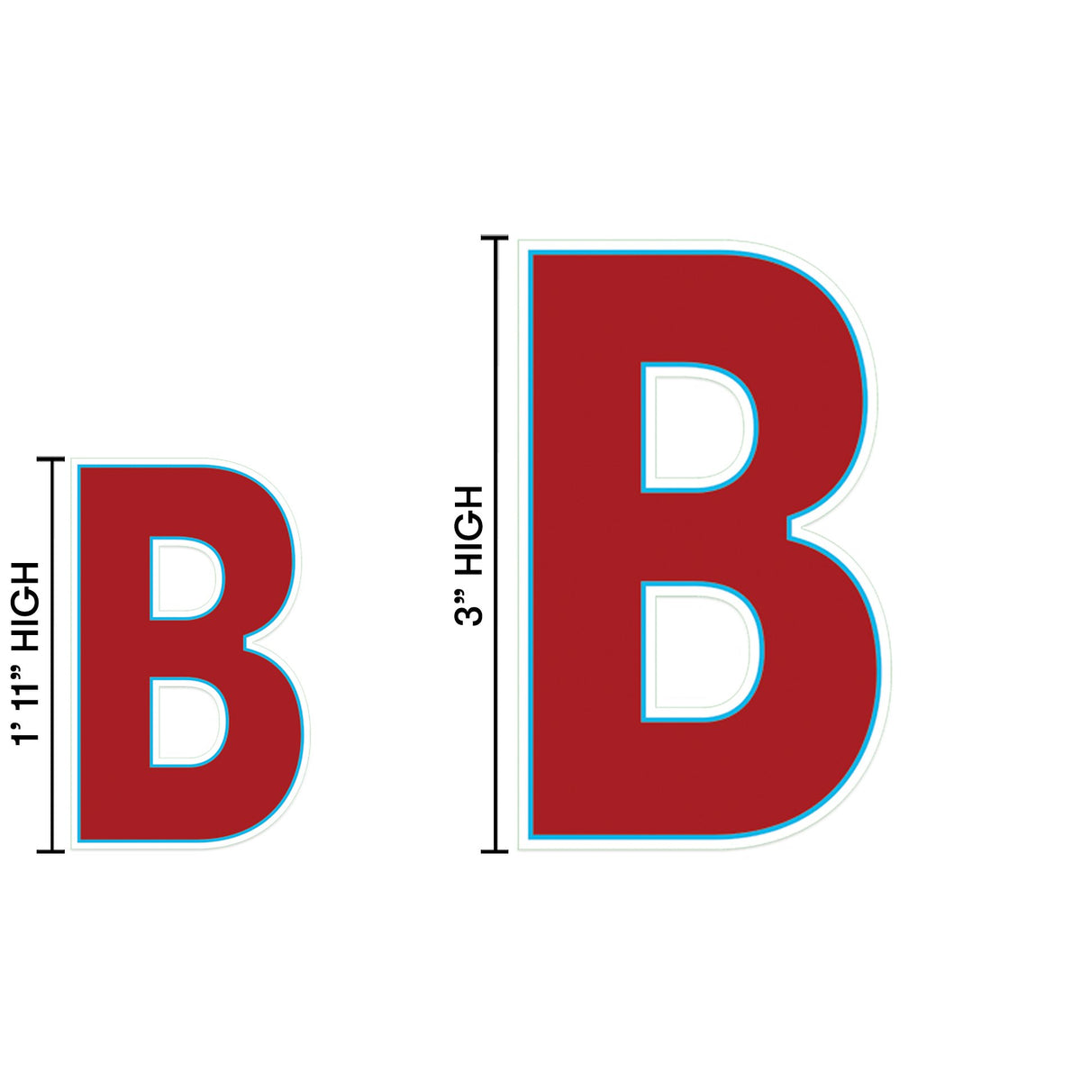 Yard Sign Expression Letter B