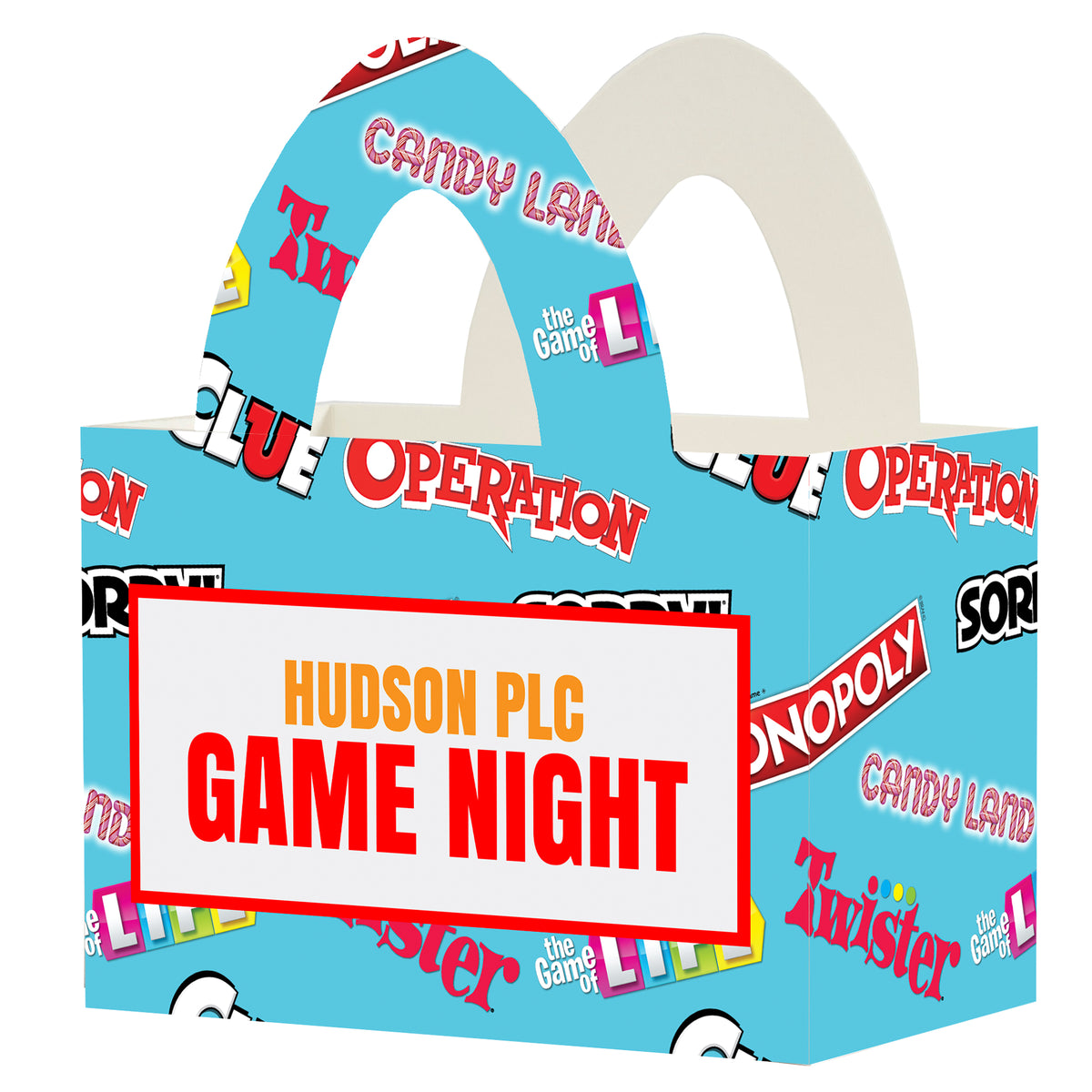 Hasbro Game Night Collection Personalized Favor Box