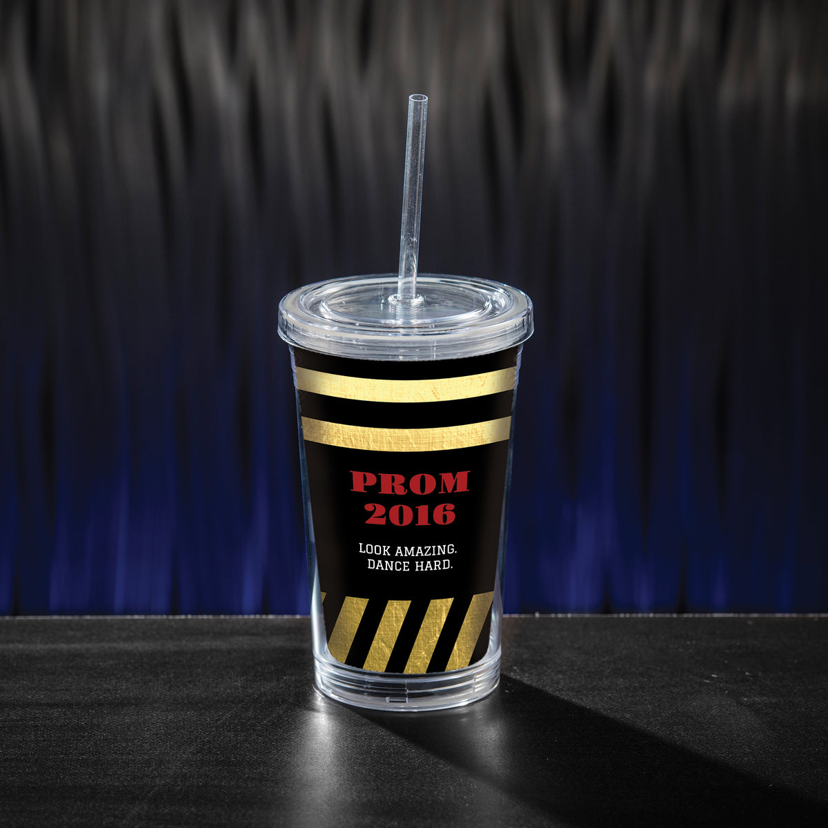 Roaring Twenties Personalized Tumbler with Straw