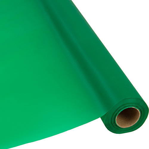 Emerald Green Plastic Table Roll