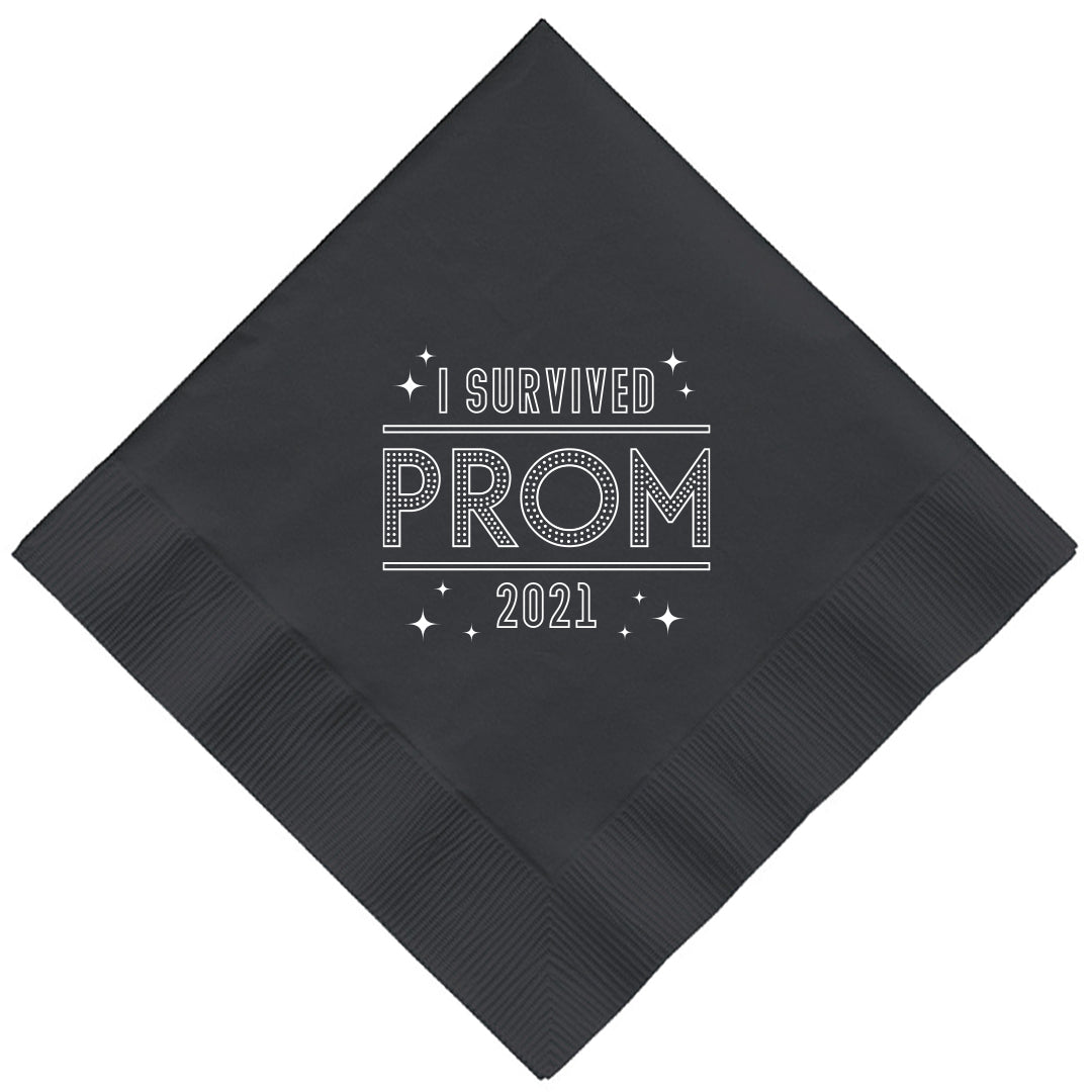 I Survived Prom 2021 Luncheon Napkins pkg/16