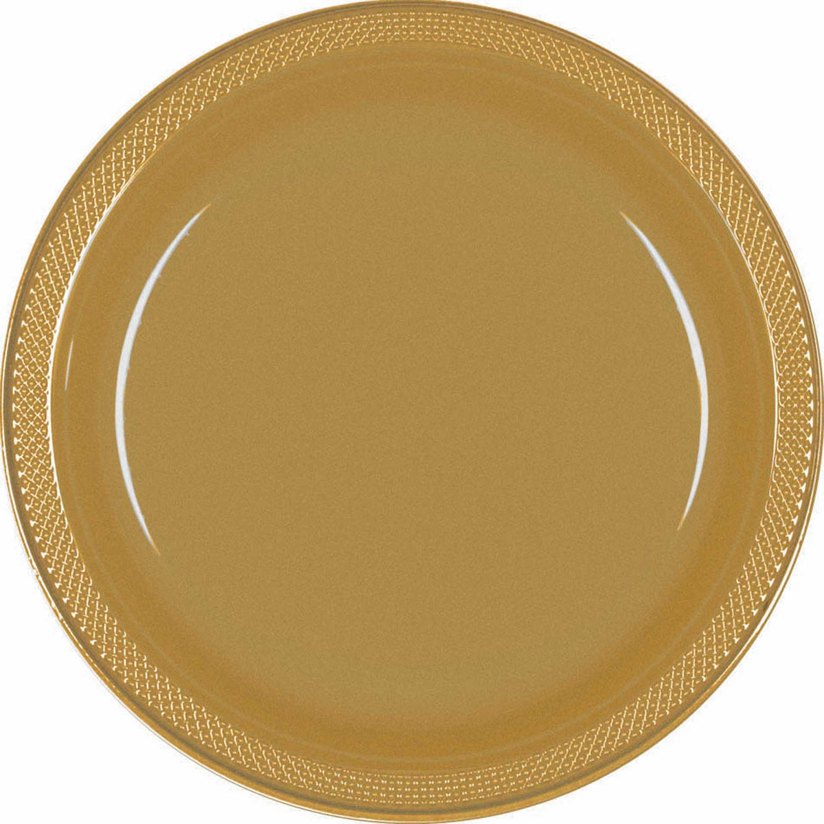 9 Inch Gold Plastic Plates