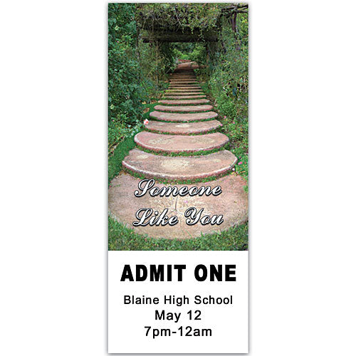 Garden Path Personalized Ticket