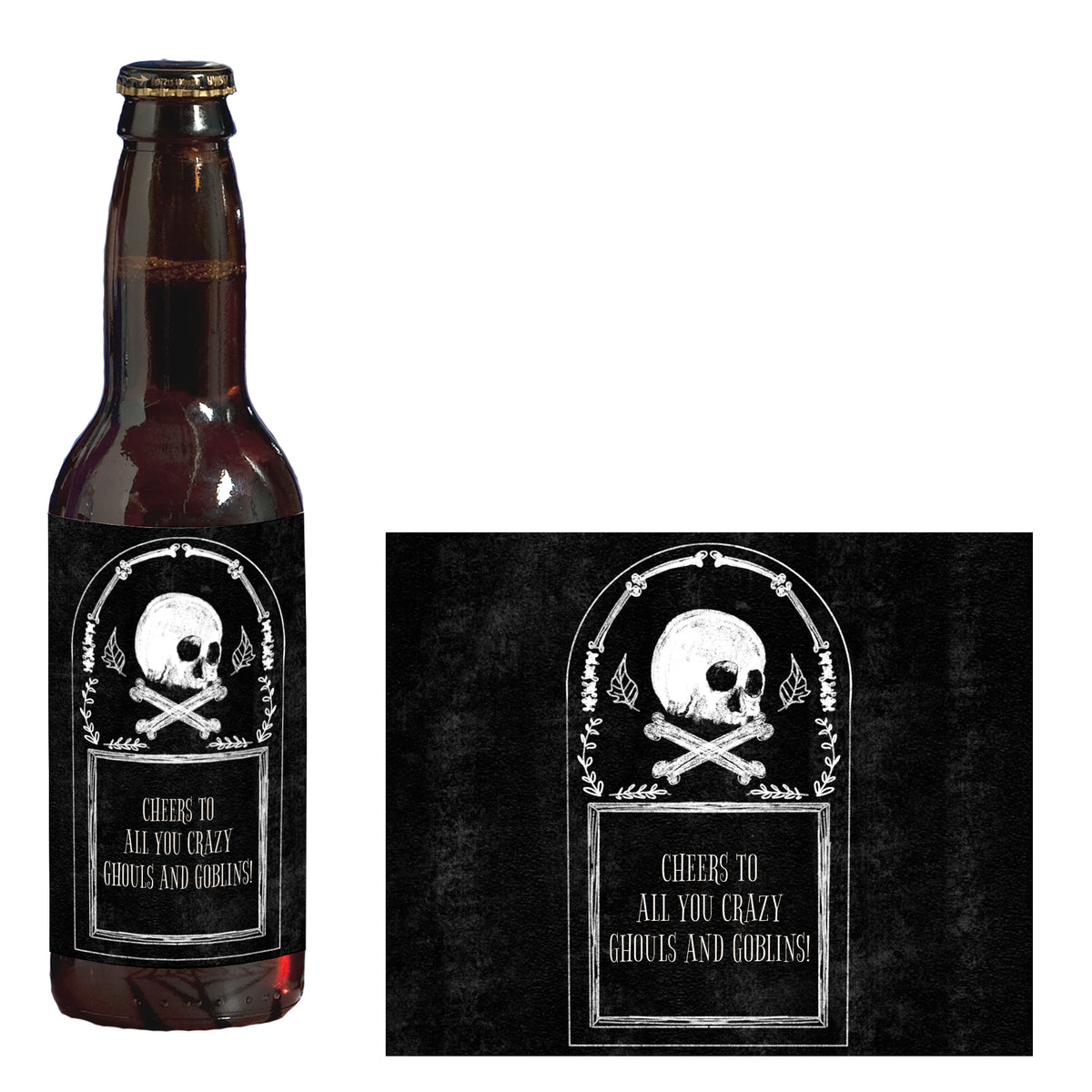 Til Death Do Us Party Personalized Glass Bottle Label