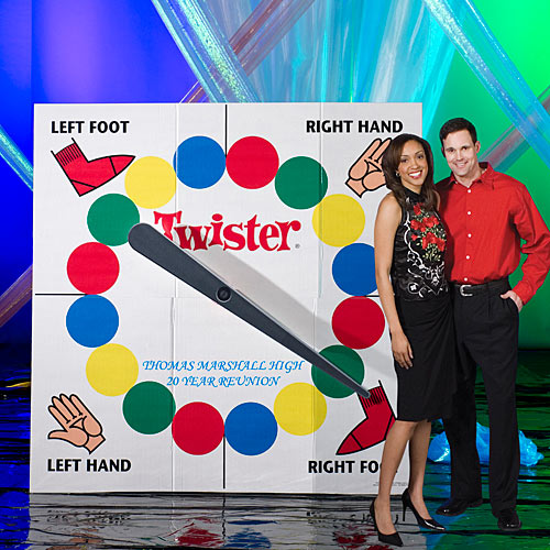 5 ft. 8 in. Retro Hasbro Twister Spinning Standee