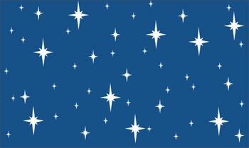 Blue & White Stars Poly Vinyl