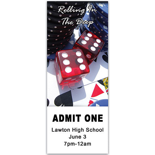 Red Dice on Cards Ticket