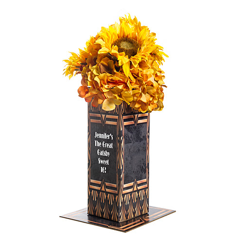 Art Deco Golden Personalized Centerpiece