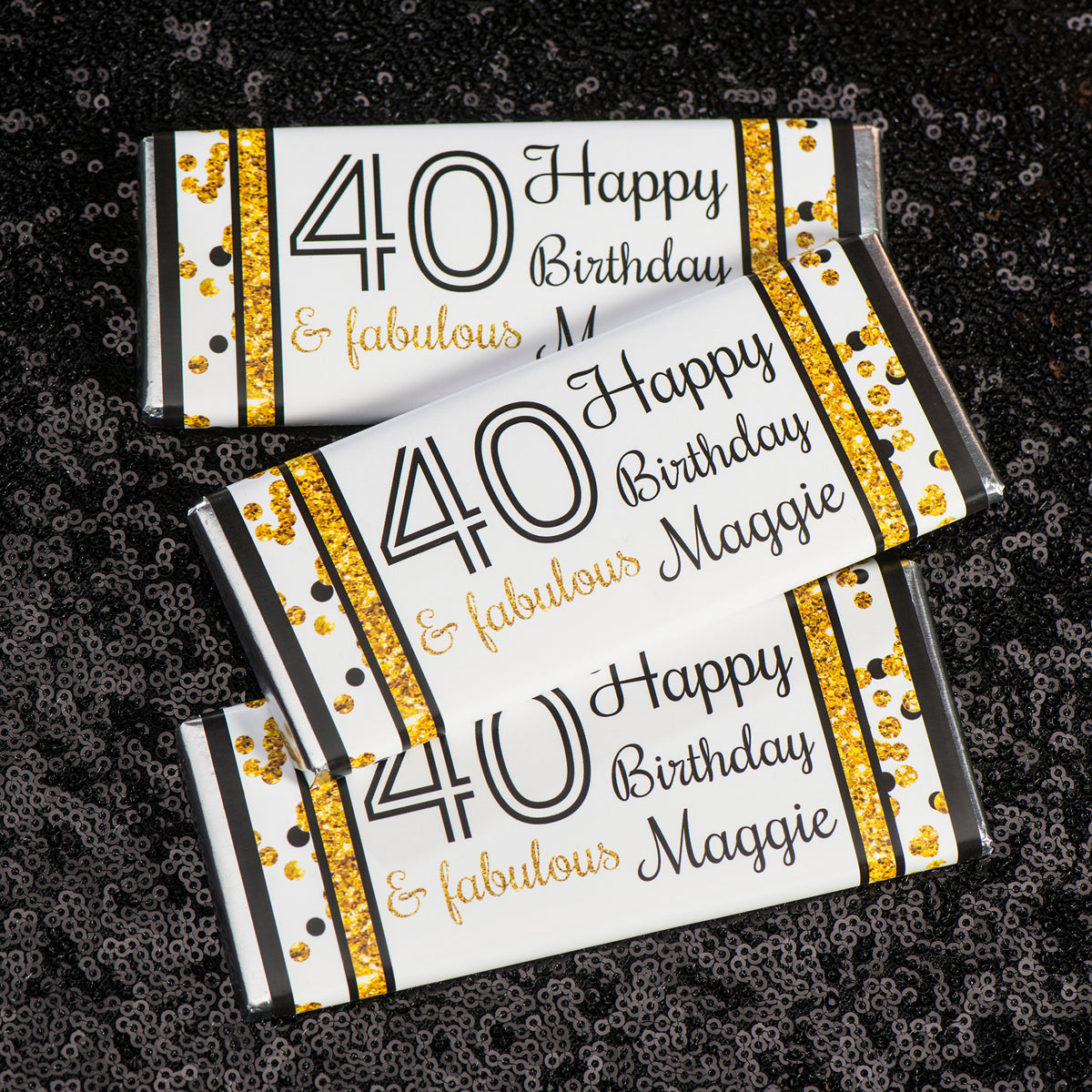 Hershey's Chocolate Cheers to You Gold 60 Personalized Candy Bars