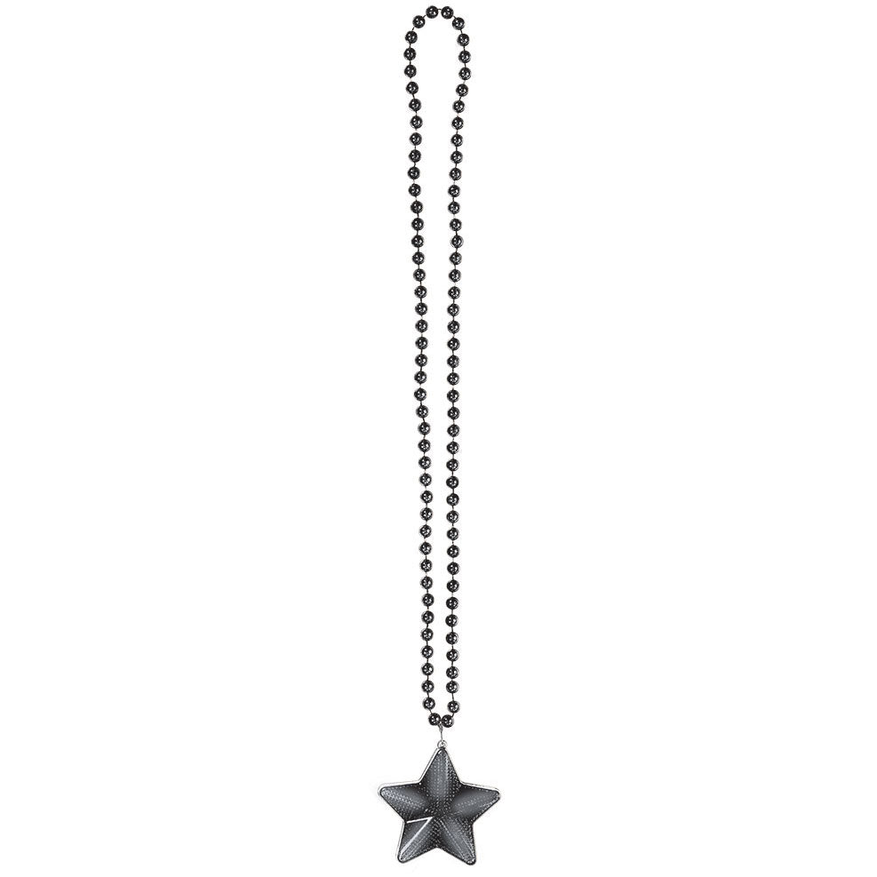 Black Light Up Star Necklace
