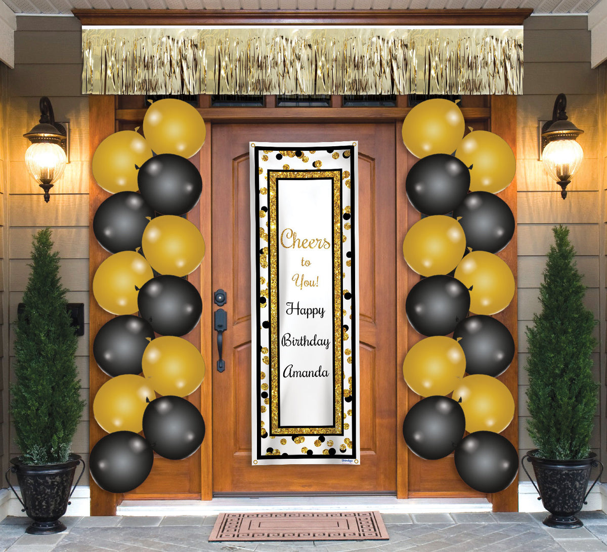 Personalized Gold Cheers to You Door Décor Kit